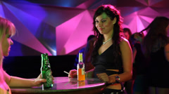 young girls in night club - stock footage