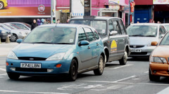 Traffic on Pershore Street in Birmingham, UK - City Centre Stock Footage