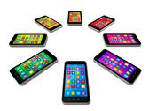 Stock Illustration of smartphones colors set