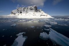 lemaire channel, antarctica - stock photo