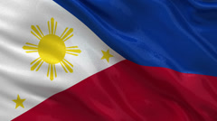 Flag of the Philippines - seamless loop Stock Footage