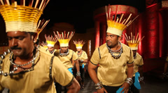 Group of Male tribes in the building Stock Footage