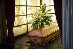 coffin - stock photo