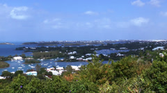 Gibbs Hill Bermuda Time Lapse View Stock Footage