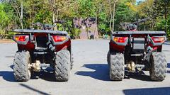 Row of atv Stock Photos