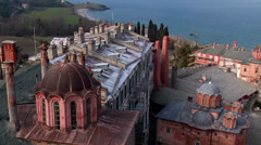 Afon Mountain, Greece, Mount Athos, frescoes. Stock Footage
