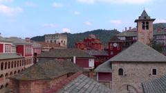 Afon Mountain, Greece, Mount Athos, frescoes. - stock footage