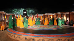 Group of Indian dancers and organizers Stock Footage