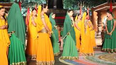 Female dancers in India Stock Footage