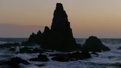 The coral Sirens in Twilight Stock Footage