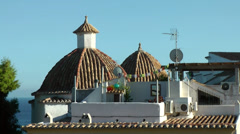 Europe Spain Balearic Ibiza Eivissa city 187 domes with tiled roofs Stock Footage