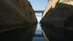 Greece, peloponnese, corinth canal. crossing the canal.. Stock Footage