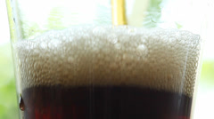 Cola drink - filling glass Stock Footage