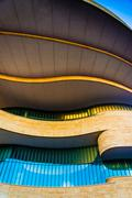 Exterior of the national museum of the american indian, in washington, dc. Stock Photos