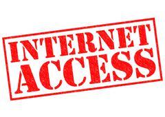 Internet Access - stock illustration