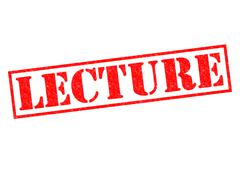 Lecture - stock illustration