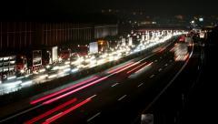 Traffic jam timelapse Stock Footage