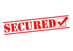 Secured - stock illustration