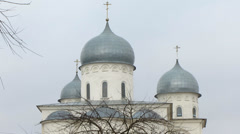 Domes of the Cathedral of St. George Stock Footage