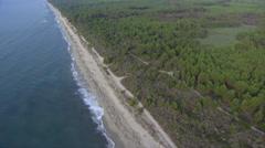 Aerial corsica coastline beach Stock Footage