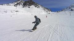 Snowboard rider Stock Footage