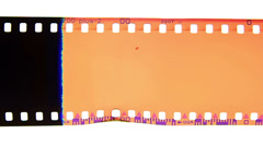analog 35mm film burn - stock footage