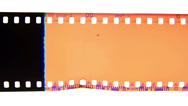 Stock Video Footage of analog 35mm film burn