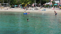 Sandy tropical beach St Thomas USVI HD 0881 Stock Footage