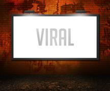 Viral billboard backdrop Stock Illustration