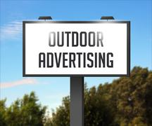 outdoor advertising billboard - stock illustration