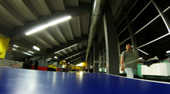 Table tennis - Time lapse Stock Footage