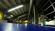 Stock Video Footage of Table tennis - Time lapse