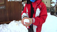 Stock Video Footage of Throwing a snowball