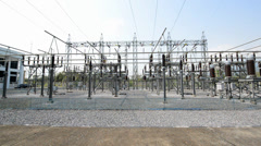 Power station for making electric energy Stock Footage