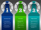 Stock Illustration of inforgraphic design with metallic rings and color ribbons