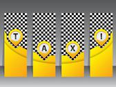 Stock Illustration of yellow taxi labels with pointers