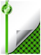 St patricks day background design with green badge Stock Illustration