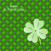 st patrick's shamrock on seamless green texture - stock illustration