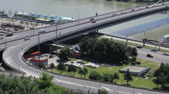 Bratislava - Novy most Stock Footage