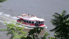 Hopper Ferry On Brisbane River Stock Footage
