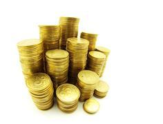 Stock of coins Stock Photos
