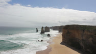 Stock Video Footage of Twelve Apostles on Great Ocean Road, Australia.