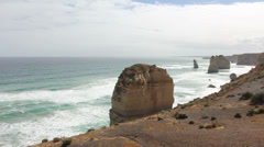 Twelve Apostles on Great Ocean Road, Australia. Stock Footage