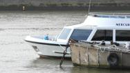 Stock Video Footage of boat on the river thames