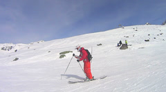 Pro Skiing  in Val Thorens Stock Footage