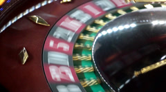 Gambling roulette winning Stock Footage