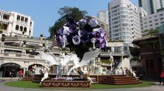 Hong Kong Tsim Sha Tsui 1881 Heritage shopping Mall arcade China Asia Stock Footage