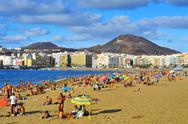 Stock Photo of las canteras beach in las palmas, gran canaria, spain
