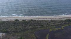 Aerial corsica footage beach coastline Stock Footage