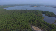 Aerial corsica urbino pond Stock Footage